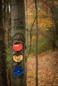 Trail Marker Humor ©Rebecca Finch