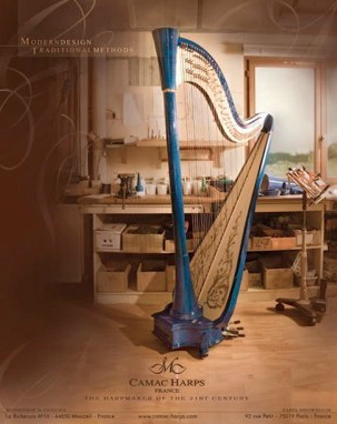 Camac Harps Photography and Ad for the Harp Column Magazine