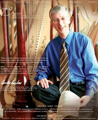 Virginia Harp Center Magazine Ad for the Harp Column Magazine