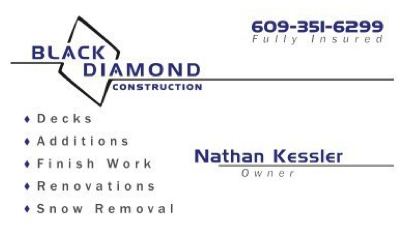 Black Diamond Logo and Business Card Design
