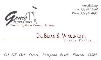 Grace Baptist Church Logo and Business Card Design