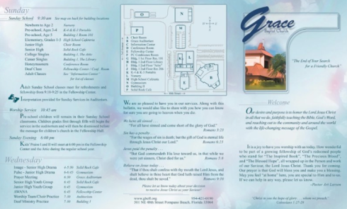 Grace Baptist Church Bulletin Cover Design