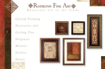 Rothlynn Fine Art Logo and Mailer Design