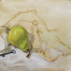 Some more detail work on the pear. And I finally got rid of that pesky shadow, you're welcome.