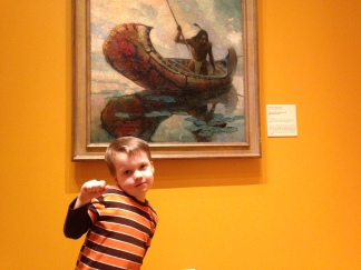 Spending the week at the Rockwell Museum during my son's spring break.