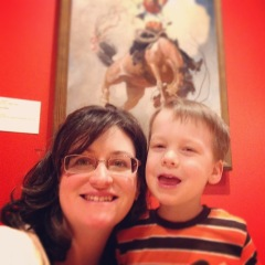 Museum selfie with NC Wyeth at the Rockwell Museum.