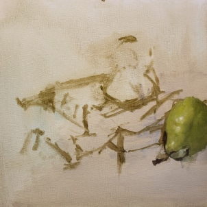 There's something about pears…they are so much fun to paint.
