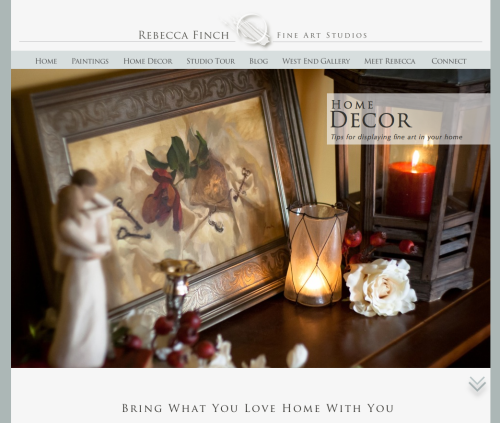 Rebecca Finch Home Decor Website