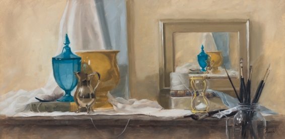"""The Joy and Toil of a Journey"" 12x24 oil • $950"