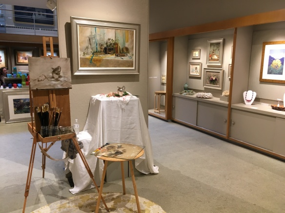 My set up in the lovely West End Gallery.