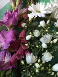 Gladiola, Foxglove, Mock Orange and Daisies