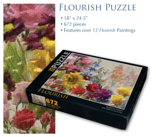 Flourish Puzzle small block